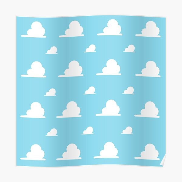 Toy Story Clouds Posters Redbubble