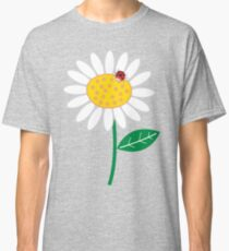 White Daisies and Red Ladybugs Classic T-Shirt