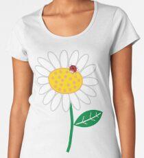 White Daisies and Red Ladybugs Women's Premium T-Shirt