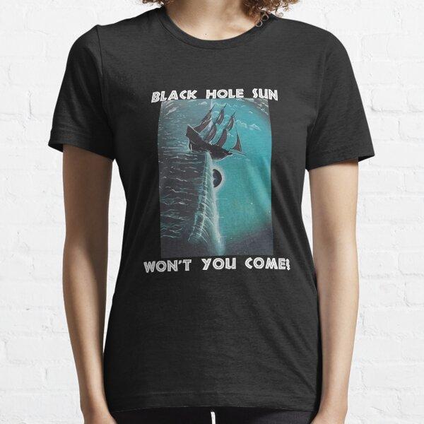 Flat Earth -Black Hole Sun Essential T-Shirt