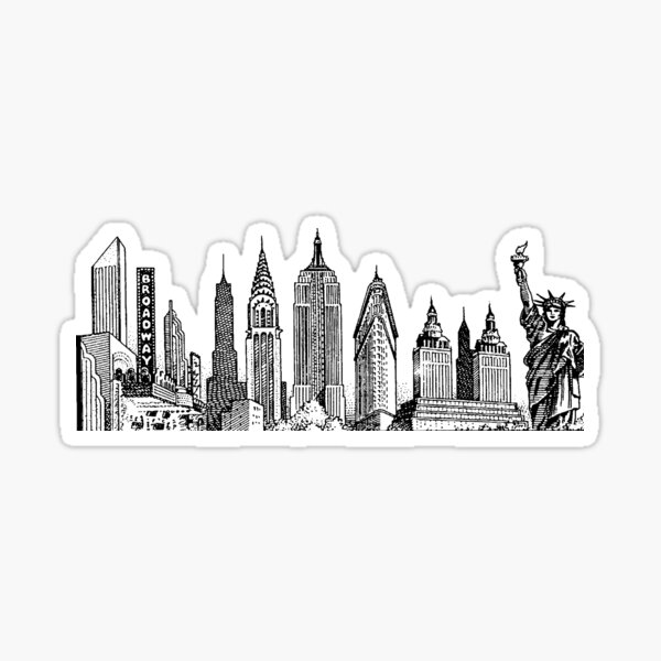 new york skyline sticker Sticker