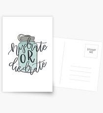 Hydratisieren oder Sterben Postkarten