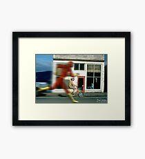 Flashing Framed Print
