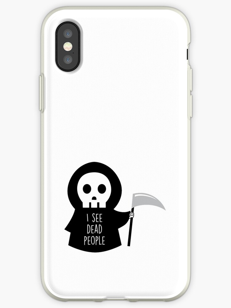 'I see dead people' iPhone Case by Twoandthree