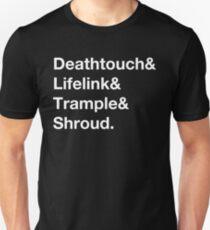 Deathtouch, Lifelink, Trample, Shroud - Black T-Shirt