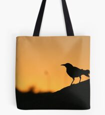 Grackle in the sunset Tote Bag