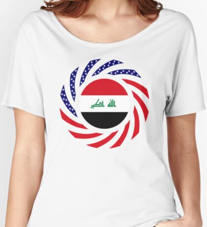 Iraqi American Multinational Patriot Flag Series Relaxed Fit T-Shirt