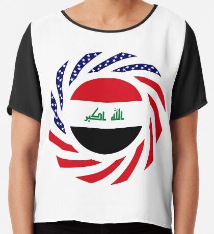 Iraqi American Multinational Patriot Flag Series Chiffon Top