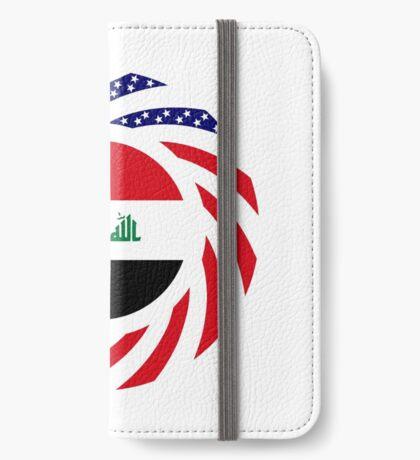 Iraqi American Multinational Patriot Flag Series iPhone Wallet