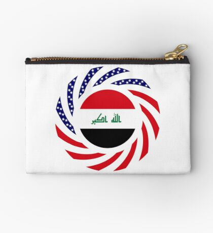 Iraqi American Multinational Patriot Flag Series Zipper Pouch