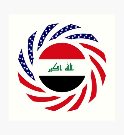 Iraqi American Multinational Patriot Flag Series Art Print