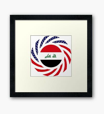 Iraqi American Multinational Patriot Flag Series Framed Print