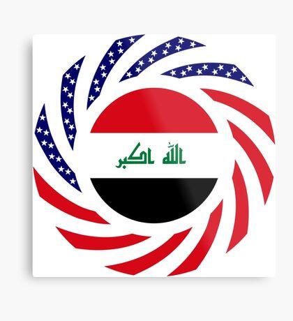 Iraqi American Multinational Patriot Flag Series Metal Print