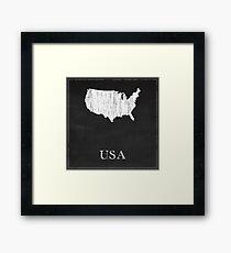 USA - Chalk Framed Print