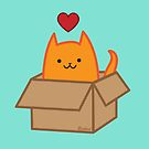 Cat in a Box by evilkidart