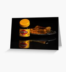 Vegemite And Toast  Greeting Card