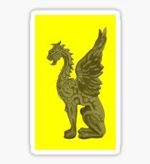 GOLDEN DRAGON SCULPTURE/YELLOW Sticker