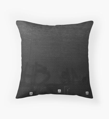 Bill posters prosecuted Throw Pillow