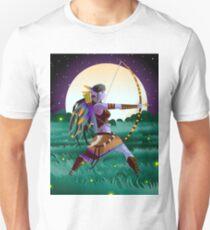 magical fantasy wild dark elf huntress in the wild in the night Unisex T-Shirt