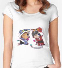 Chibi Voltron Onesie- Klance / Lance + Keith Women's Fitted Scoop T-Shirt