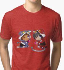 Chibi Voltron Onesie- Klance / Lance + Keith Tri-blend T-Shirt