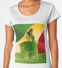 african rastafarian girl Women's Premium T-Shirt