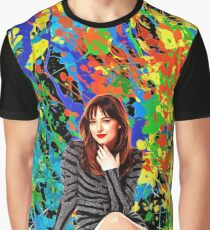 Dakota Johnson - Celebrity (Oil Paint Art) Graphic T-Shirt