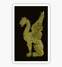 GOLDEN DRAGON SCULPTURE/BLACK Sticker