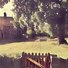 Sunshine and rain on the village green by heidiannemorris