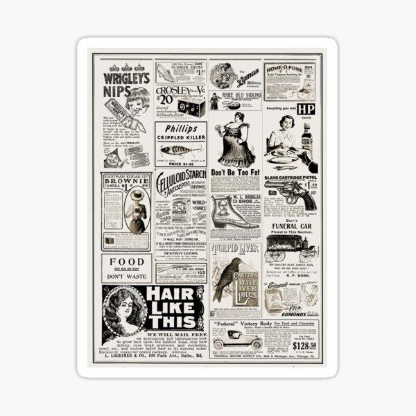 Vintage Ads Sticker