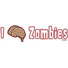 I love (brain) zombies by evilkidart