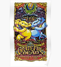 Grateful dead 50 years anniversary poster Poster