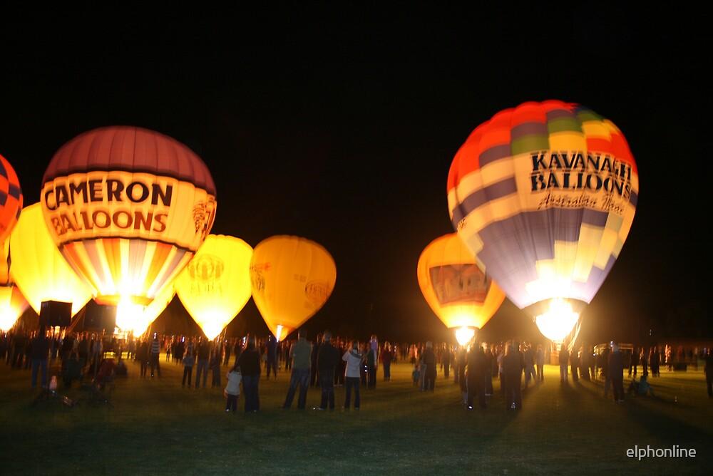 Renmark Balloon Festival Night Glow by elphonline