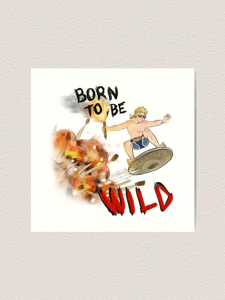 Born To Be Wild Botw Link Legend Of Zelda Art Print