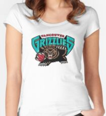 Vancouver Grizzlies Logo Women's Fitted Scoop T-Shirt