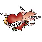 Bacon Love Tattoo by evilkidart