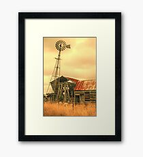 Rustic country Framed Print