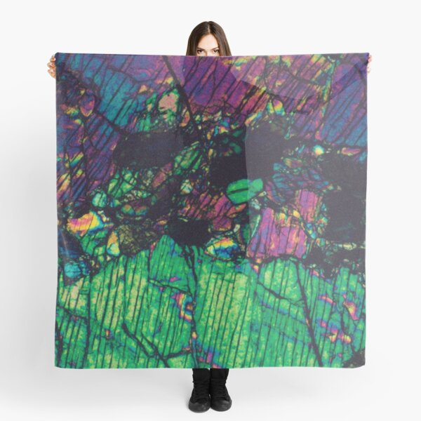 Pyroxene Crystals - Thin Section Photography Scarf