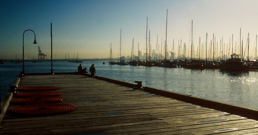 Williamstown, early morning by William Mason