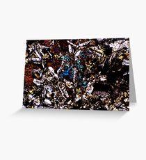 Pyroxenkristalle und Feldspat Grußkarte