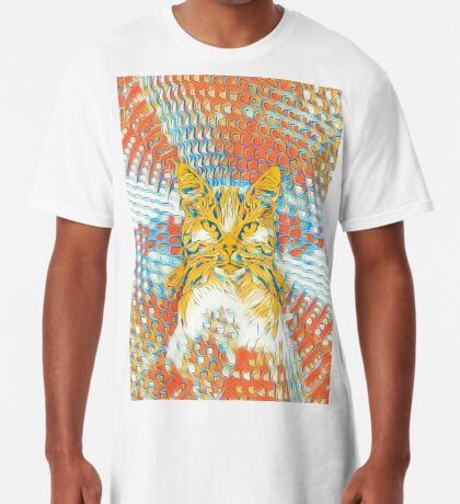 Yellow Cat Long T-Shirt