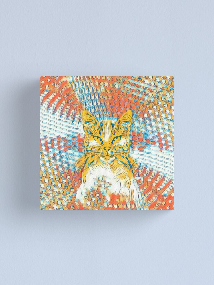 Alternate view of Yellow Cat Canvas Print