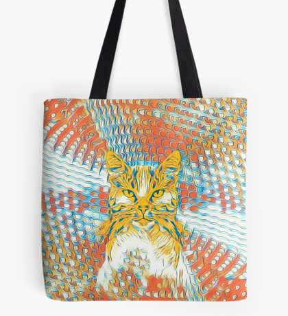 Yellow Cat Tote Bag