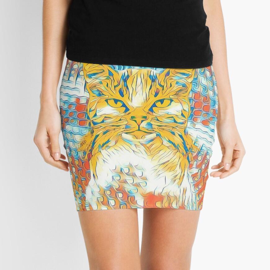 Yellow Cat Mini Skirt