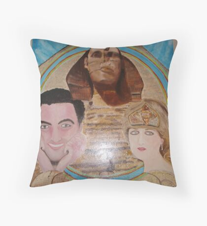 Princess Diana  and Dodi in Love Series (1/3) : Blessings Throw Pillow