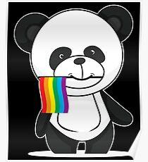 Gay Pride Panda Shirt Poster