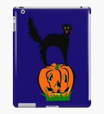 Funny Black Cat and Pumpkin iPad Case/Skin