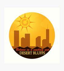 Desert Bluffs - Night Vale Art Print