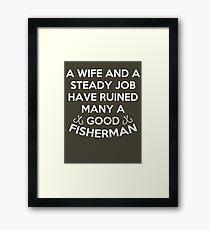 Ruined many a fisherman Framed Print