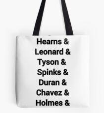 80s favourite boxers Tyson Tote Bag